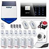 Kerui 8218G - Alarma para la casa, evita intrusiones, GSM/RTC inalámbrico
