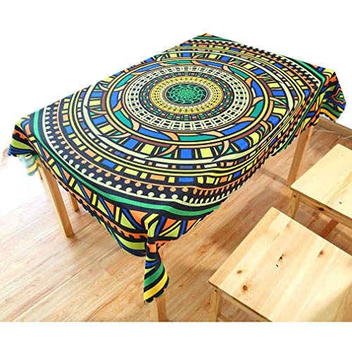 QJIAXING Nappes Coton Style Ethnique Lin Cuisine Moderne Restaurant Table Décoration Couverture Tissu,110 * 140Cm