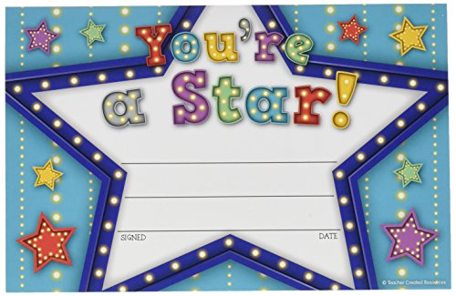 Teacher Created Resources (5485) Marquee You're a Star Awards