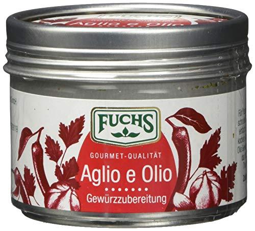 Fuchs Gewürze Aglio e Olio Gewürzzubereitung - der perfekte Begleiter für die italienische Küche in der wiederverwendbaren Dose, 3er Pack (3 x 50 g)