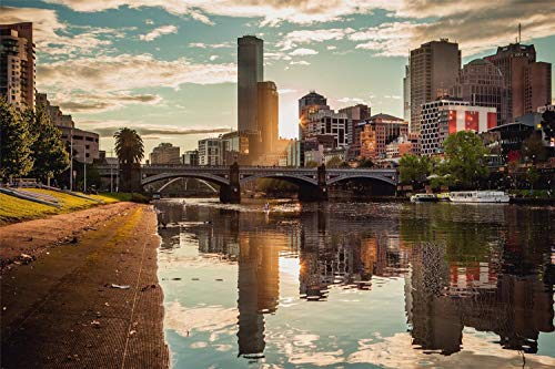 Rompecabezas De 1000 Piezas Para Adultos Melbourne Decoración De Montaje De Madera Para El Hogar Juego De Juguete Juguete Educativo Para Niños Y Adultos
