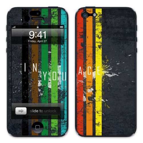 Diabloskinz - Autocollant Skin pour iPhone 5 - inyourface