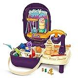Biltoxi Non-Toxic Pretend Play Ice Cream Maker Suitcase with Accessories for Kids Boys...
