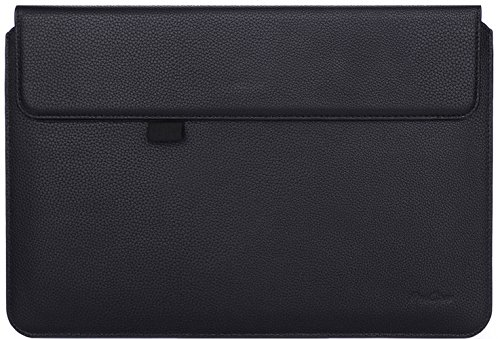 ProCase Surface Pro 7/Pro 6/Pro 2017/ Pro 4 3/ Pro LTE Sleeve Case, 12 Inch Laptop Bag Tablet Protective Cover for Microsoft Surface Pro 2017/Pro 7 6 4 3, Compatible with Type Cover Keyboard -Black