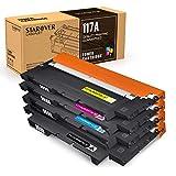 STAROVER 117A (con Chips) Cartuchos de Tóner compatibles, Tóner de Repuesto para HP Color Laser 150a 150nw MFP 178nw 179fnw, W2070A W2071A W2072A W2073A (Negro, Cian, Amarillo, Magenta/Paquete de 4)