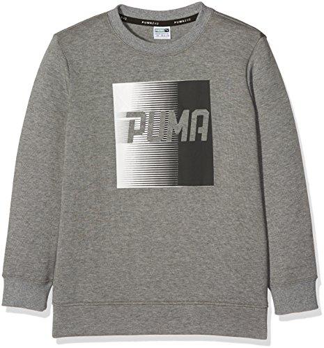 PUMA (PUMAE) PUMA Kinder Evo Crew Mantel, medium Gray Heather, 128
