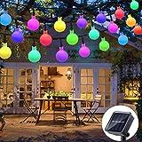 Solar Lichterkette Außen, ORSIFOW 7Meter 50er Bunt LED Lichterkette mit Lichtsensor 8 Modi IP65 Wasserdicht, Lichterkette Außen für Garten,...