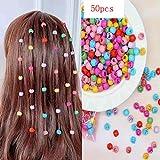 Lot de 50 mini pinces à cheveux en forme de fleur type perle pour tout-petits et petites filles, accessoires pour cheveux pour...
