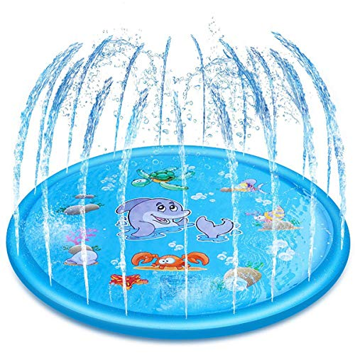 Luatuer 68 Inch Sprinkle and Splash Play Mat, Foldable Garden Outdoor...