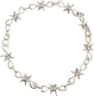 Men Women Gothic Thorns Choker Necklace Punk Rock Stainless Steel Hip Hop Necklace Chain