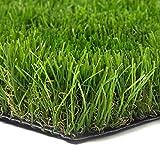 Photo Gallery sti prato sintetico 50mm finta erba tappeto manto giardino 4 sfumature colore 1x10