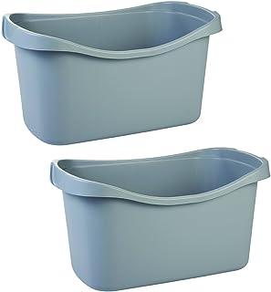 Iris Ohyama, set - 2 paniers de rangement pour jouet - Jumbo Toy Basket - plastique, gris, 90 L, 75 x 43,5 x 40,5 cm