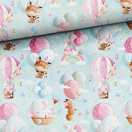 Herz Stoffe Österreich – Tessuto di cotone per bambini, Ökotex, per trapuntare, materiale da cucito di produzione europea
