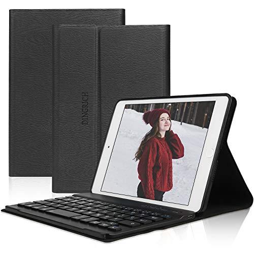 D DINGRICH Tastatur Hülle für ipad Mini 5, ipad Mini 4, ipad Mini 3, ipad Mini 2, ipad Mini 1- ipad mini case- Wireless Bluetooth Tastatur- QWERTZ- Magnetisch Schlaf/Wach- iPad 7.9 Inch Tastatur Hülle