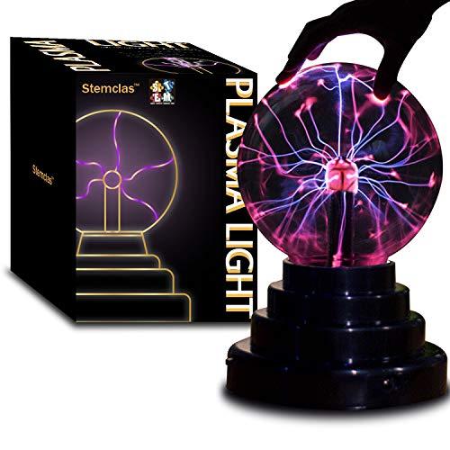 Stemclas Bola de plasma, luz y lámpara, bola eléctrica de plasma, luz de nebulosa, sensible al tacto, juguetes STEM, para fiestas,...