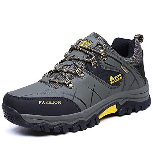 Aerlan Gym Shoes Lightweight Shoes,Zapatos de Hombre Zapatos de Senderismo al Aire Libre, Zapatillas de Deporte Casuales de Senderismo-Verde Militar_41,Botas de montaña Deportivas