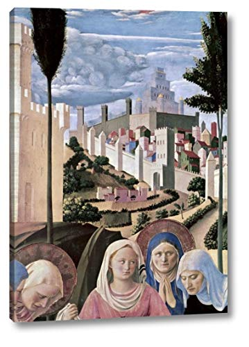 """Deposition - Detail 3 by Fra Angelico - 17"""" x 24"""" Canvas Art Print Gallery Wrapped - Ready to Hang"""