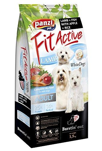 Panzi FitActive Premium Hundefutter Erwachsener weiße Hunde Lamm&Fisch, 1er Pack (1 x 1.5 kg)