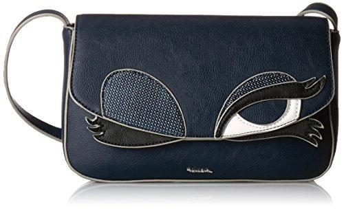 TamarisCARRIE Baguette Bag - Bolso Baguette Mujer, Color Azul, Talla 26x15x7 cm (B x H x T)