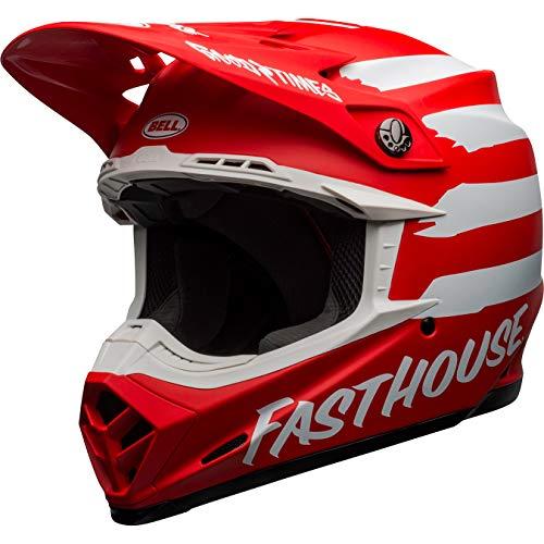 BELL MOTO-9 MIPS FASTHOUSE SIGNIA Limited Edition Motocross Helm M matt rot weiß 7118287