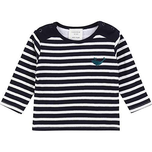 CARREMENT BEAU T-Shirt marinière 100% Coton Bebe Couche Marine Ecru 6MOIS