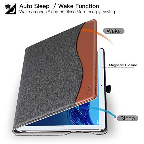 Ztotop Hülle für Huawei MediaPad M5 /M5 Pro 10.8 Zoll 2018, Premium Kunstleder Leichte Case mit Auto Schlaf/Wach Funktion und Pen Halter, für Huawei MediaPad M5 10.8 Zoll 2018 Modell, Denim Schwarz - 5