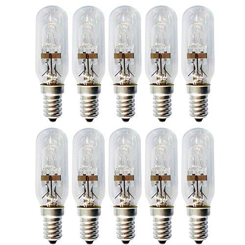 10 x Eco Halogen T25 Röhre 28W = 35W E14 klar Glühbirne Dunstabzugshaube warmweiß dimmbar (28 Watt)