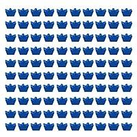 EXCEART 100個の木製ビーズクラウンシェイプスペーサービーズ穴付きルーズビーズDIYサプライネックレスジュエリーイヤリングブレスレット各種