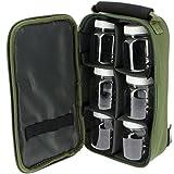 BKL1® Tasche mit Kunststoffgläsern 825 Köderdose Ködersortierung Angeln Camping