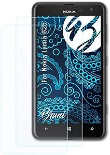Bruni Skärmskydd är kompatibel med Nokia Lumia 625 Film, kristallklart Skyddsfilm (2X)