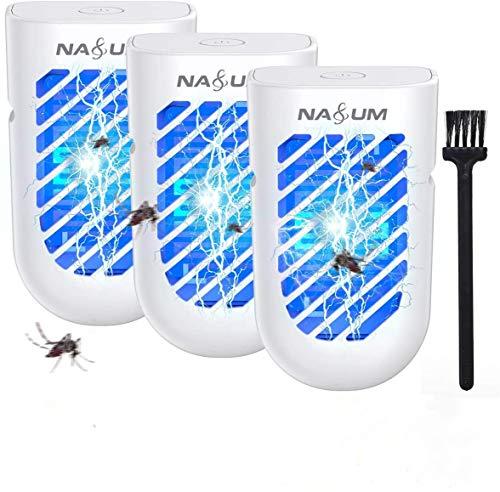 NASUM Mückenvernichter Insektenvernichter 50m² Indoor, elektrische Mückenlampe, Mückenstecker Plug-in, Mückenfalle schützt sicher und harmlos(EU Plug)