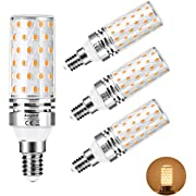 E14 LED Light Bulb 12W Aogled,Equivalent to 100W Halogen lamp,LED Bulb E14 Warm White 3000K,1200LM Corn Bulb,Not Dimmable,No Flickering AC100-240V,Pack of 4