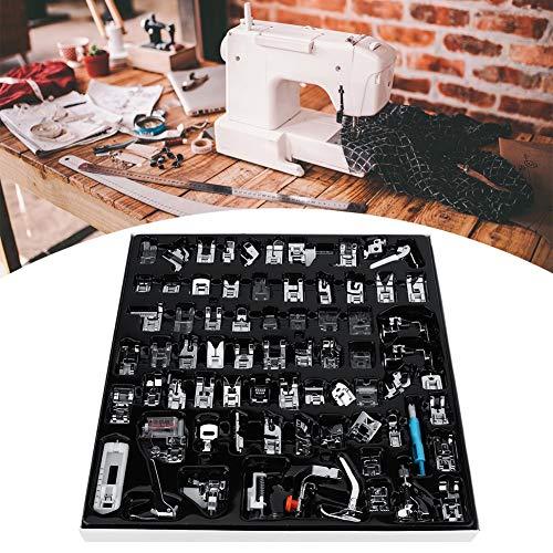Kit de prensador de máquina de coser multifuncional resistente a la corrosión, 72 piezas para el hogar, ahorro de tiempo, accesorios de máquina de coser prácticos de usar.