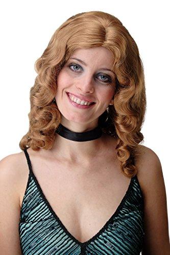 WIG ME UP - GFW1860-16-27B Damenperücke Perücke Classic Hollywood Diva Femme Fatale Wasserwelle gewellt lang Volumen blonde Highlights Strähnen