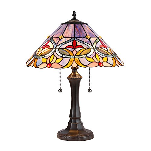 Curie Tiffany-Style Floral Table Lamp