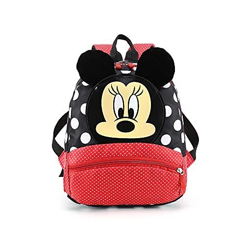 FGen Cartable pour enfants, sac à dos Mickey mouse, très approprié pour l'école, les voyages, le sac d'école de la maternelle(noir)