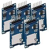 AZDelivery 5 x SPI Reader lector de tarjeta SD TF modulo memory card shield compatible con Arduino con E-Book incluido!