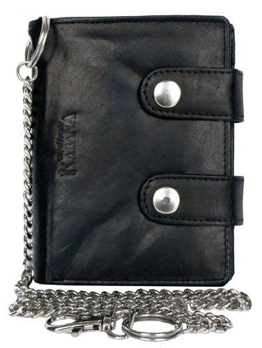 Billetera Kabana de motorista, con cadena de metal de 45cm de largo para colgar, billetera para hombres