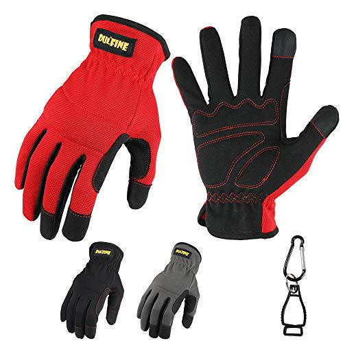 High Performance Work Gloves For Men(3 Pairs Pack), High Dexterity Touch Screen For Multipurpose,Excellent Grip