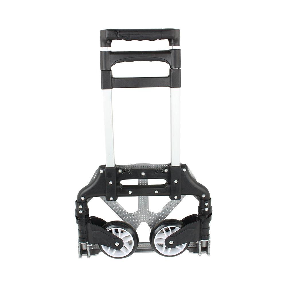 Negro de carro de equipaje plegable carretilla multifuncional Heavy Duty carrito de transporte para transporte viaje equipaje adquisiciones carga max 80/kg 1 Carro de mano plegable