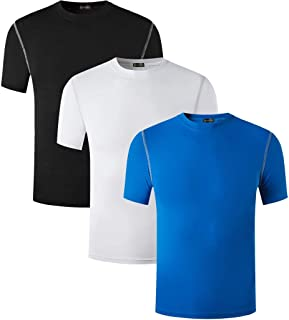 Sportides Boy's Quick Dry Active Sport Short Sleeve Breathable Compression Shirt Tee Tshirt T-Shirt Top LBS709