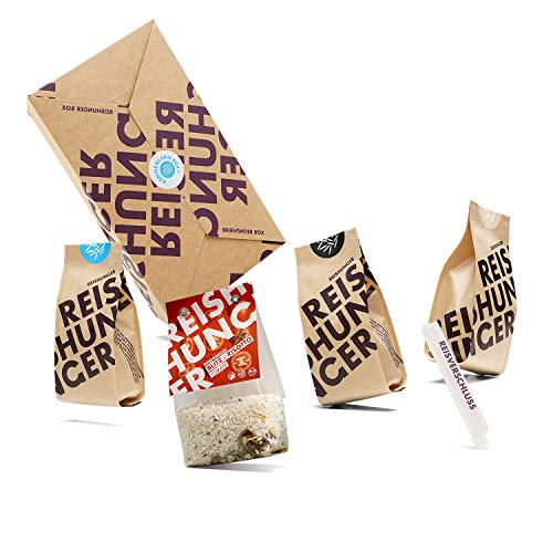 Reishunger Kleine Kennenlern Box, Bio (4-teilig, 250g/200g) Verschiedene Premium Reis Produkte und Risotto - Perfekt als Geschenk