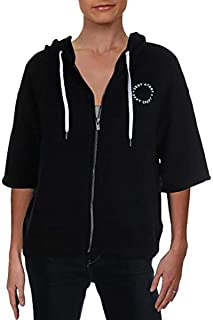 Dkny Sport Womens Balck Sweatshirt Fitness Workout Hoodie, XL Black