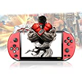 Handheld Game Console for Kids/Adults(X12 Pro), Built-in 2000 Retro Video Games, 5.1 Inch LCD Screen, Support NES/SNES/GB/GBC/GBA/MD/PS1/Arcade Games, Portable and Mini Style, Support MP4/TXT(Red)