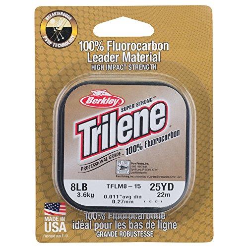Berkley Trilene 100% Fluoro Leader Mat, Clear, 25-Yard/10-Pound