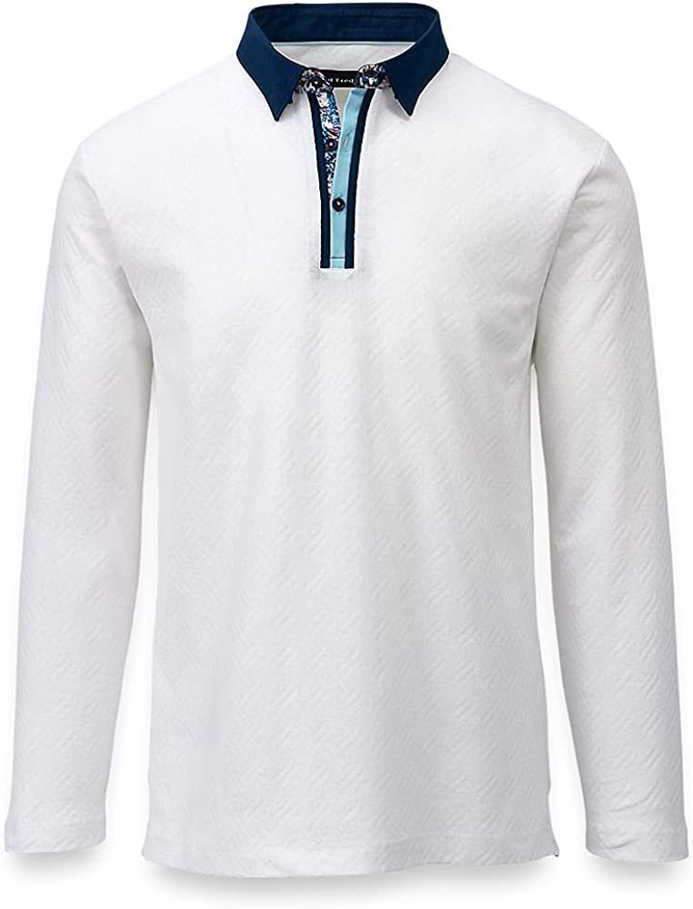Paul Fredrick Men's Mercerized Cotton Polo with Tipping