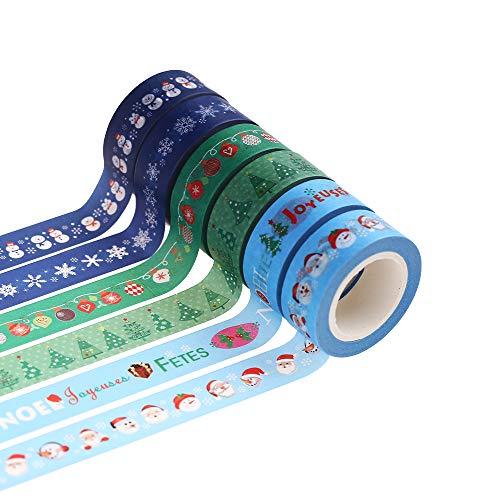マスキングテープ 和紙テープ 手帳用 (クリスマス)