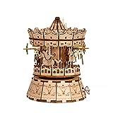MOEGEN 3D Puzzle, Maquetas para Montar y Pintar de Madera -Caja de música - Madera Maquetas para Construir 3D Madera Puzzle para niños y Adultos