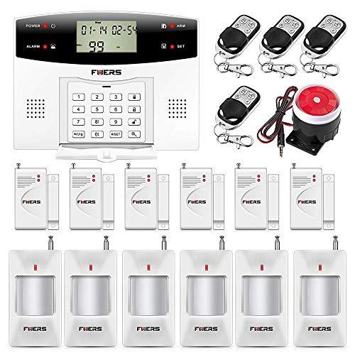 Fuers – G2 alarma casa GSM PSTN llamada sirena, sensores / detectores de apertura de puerta/ventana anti-robo sistema español para Hogar, Tienda, Garaje