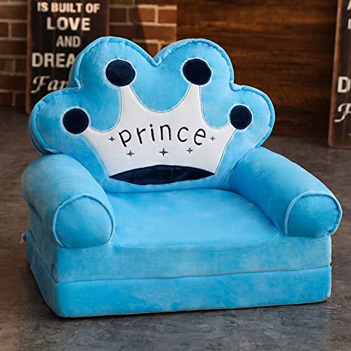 WAYERTY Kindersessel, Kindersofa Cartoon Mädchen und Jungen Geburtstagsgeschenk Spielzeug Faul Polstermöbel Cute Baby Kleines Sofa Sitz Mini-Sessel Waschbar-Blau 50x40x45cm(20x16x18inch)